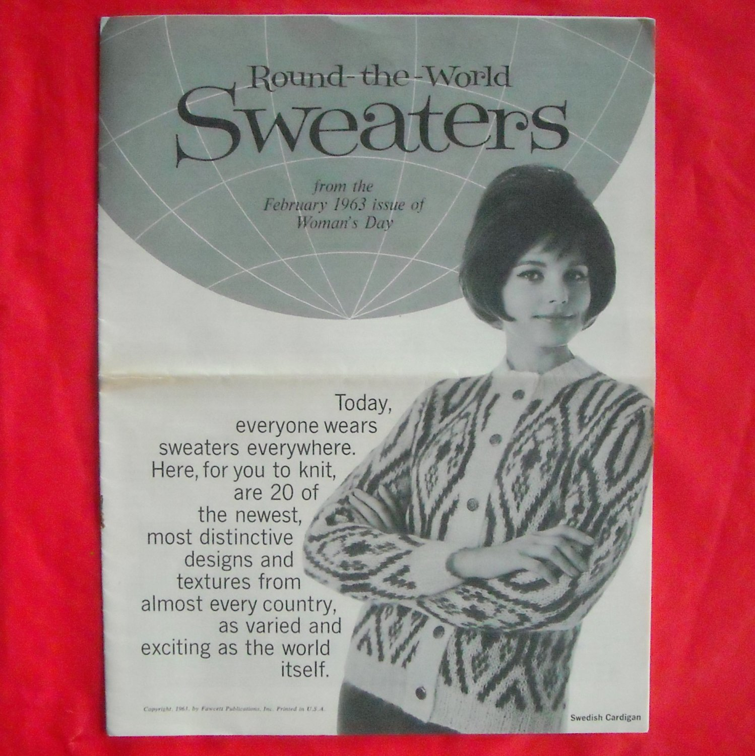 Vintage Round the World Sweaters patterns 1963