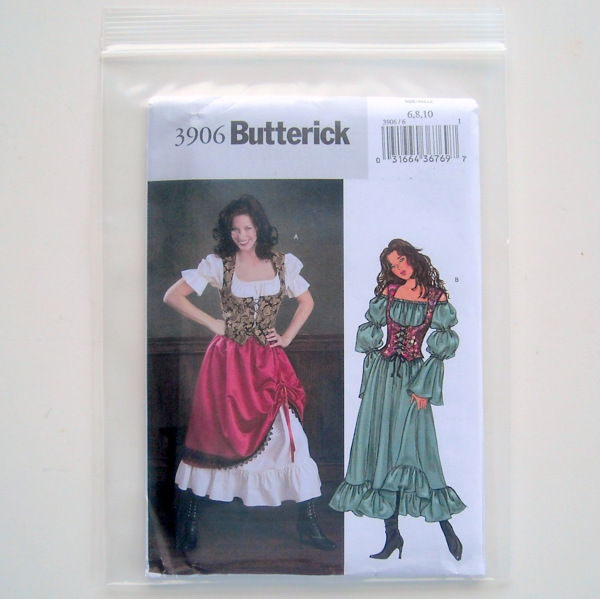 Butterick Misses Petite Costume Size 6 8 10 Sewing Pattern B3906