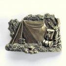 Vintage Bergamot Camping Brass Color 1980 Belt Buckle
