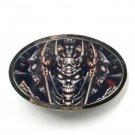 Tattoo Johnny Devil Design Silver Color Metal Alloy Belt Buckle