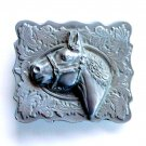 Vintage Horse Head 3D Heavy pewter alloy belt buckle