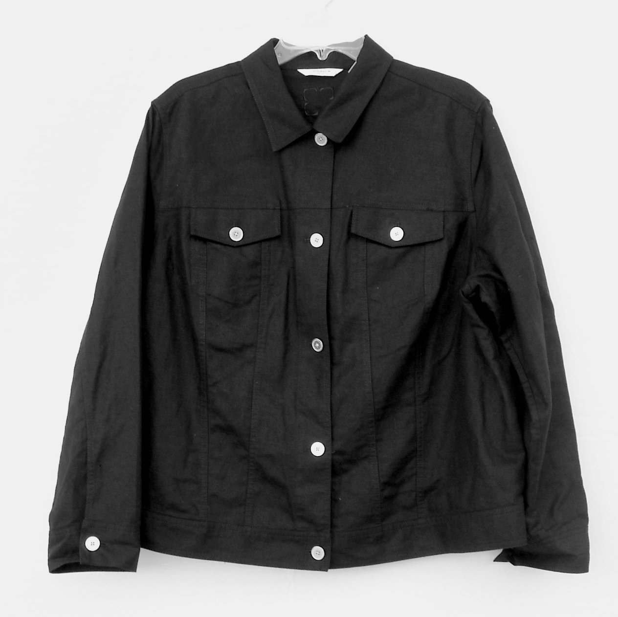 Liz Claiborne Womens Misses Black Jacket Size 18 W