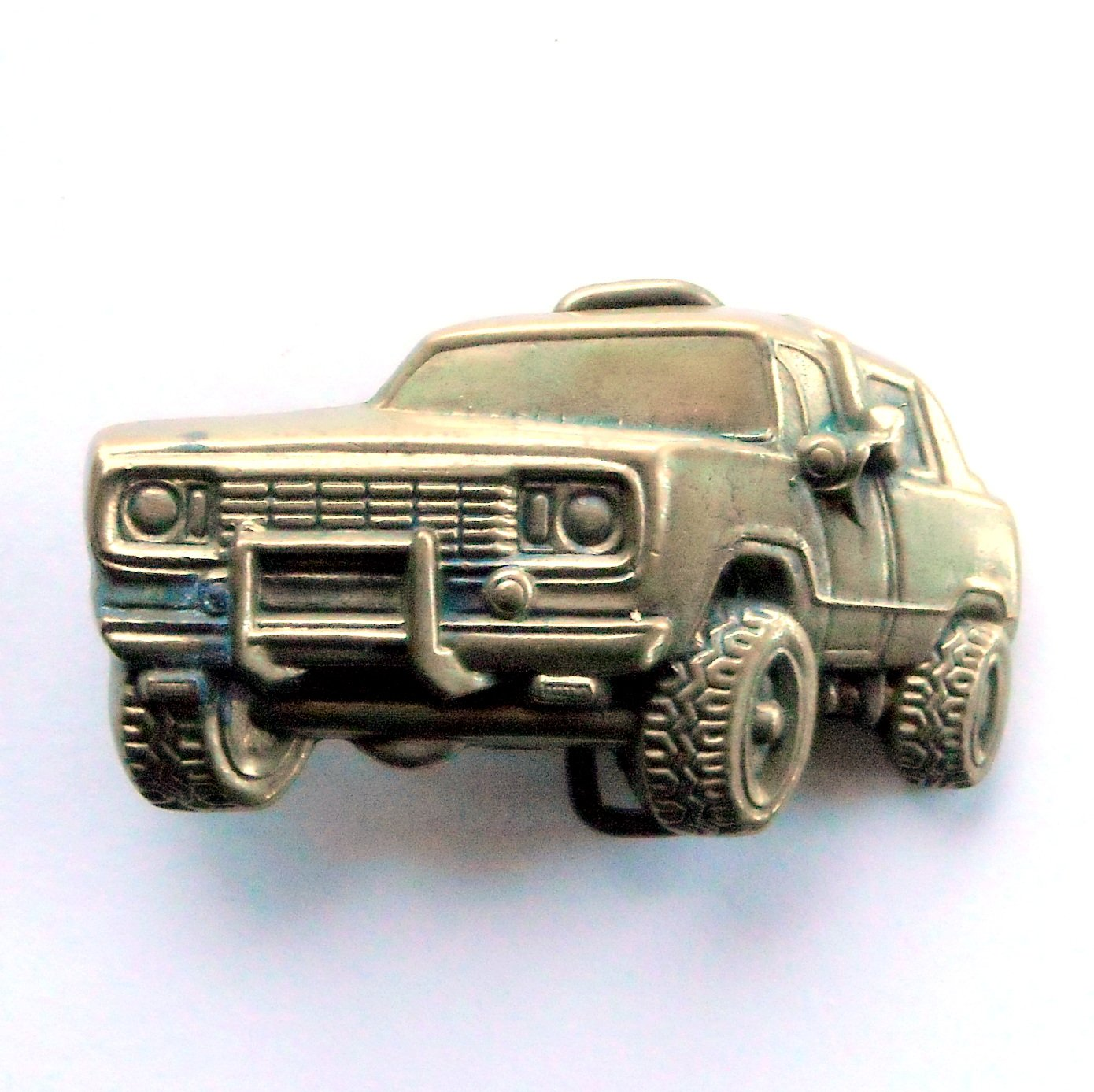 Vintage Dodge Power Wagon Solid Brass 1978 belt buckle