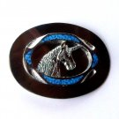 Unicorn Head Faux Turquoise Silver Color Belt Buckle