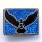 Vintage Flying Eagle PSS Silver Color Metal Alloy belt buckle