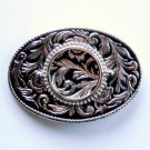 Vintage Scrolling Floral Silver Color Metal Alloy Belt Buckle