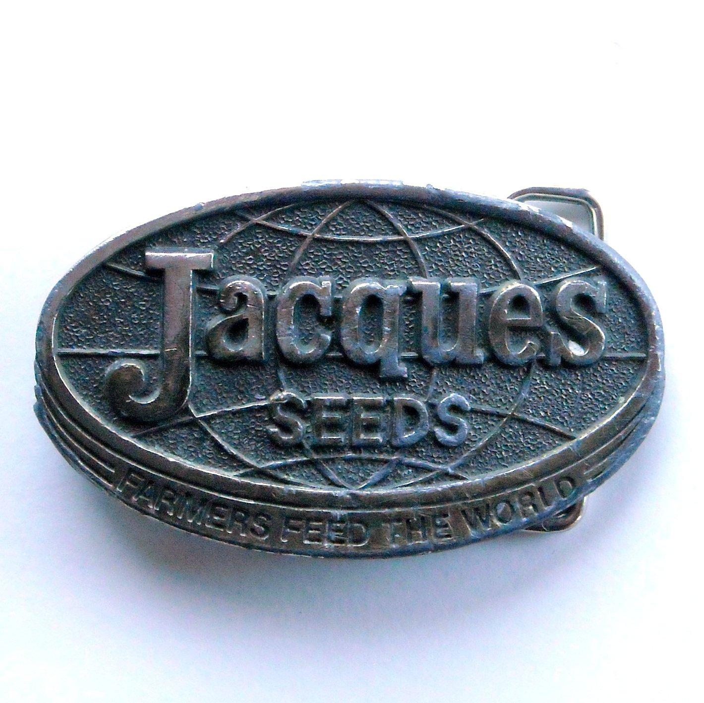 Vintage Jacques Seeds Metal Alloy belt buckle