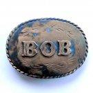 Bob Vintage Spec Cast Brass Metal Alloy belt buckle