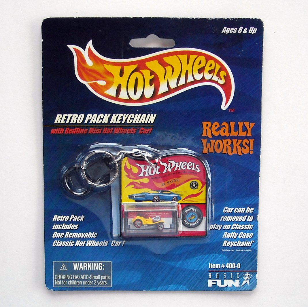 Hot Wheels Retro Pack Keychain Basic Fun