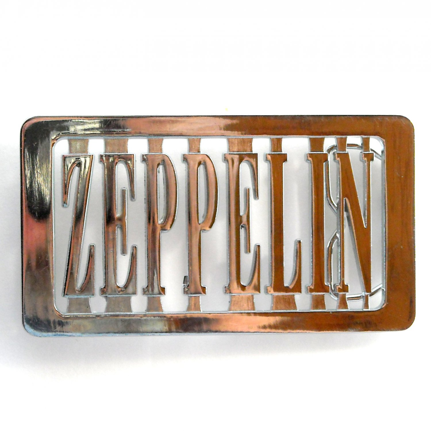 Zeppelin Cut Out Silver Color Metal Alloy Belt Buckle