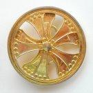 Silver Star Spinner Brass Metal Alloy Belt Buckle
