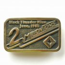 Black Thunder Mine 1985 Anacortes Solid Brass Limited Edition # 06 belt buckle