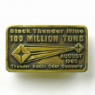 Black Thunder Mine 100 Million Tons Anacortes Solid Brass Limited Edition # 617 belt buckle