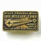 Black Thunder Mine 100 Million Tons Anacortes Solid Brass Limited Edition # 229 belt buckle