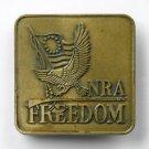 NRA Freedom Bicentennial Brass alloy Vintage belt buckle