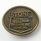 Stone Products Canton Ohio Brass Color Vintage Belt Buckle