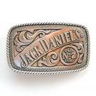 Old No 7 Jack Daniels Silver Color Belt Buckle