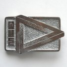 MCE Silver Color Vintage Made In USA Belt Buckle