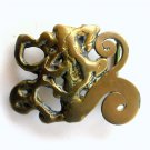 Vintage Artisan Unique Solid Brass Alloy Belt Buckle