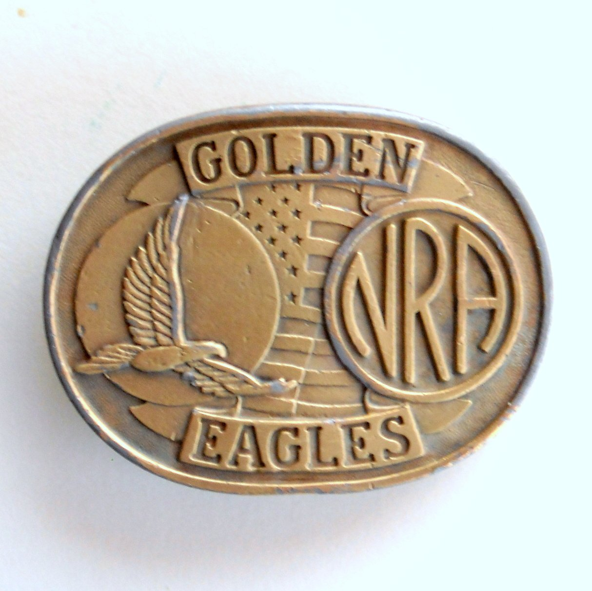 NRA Golden Eagles Brass Alloy Belt Buckle