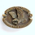 National Rifle Association NRA Golden Eagles Brass Belt Buckle