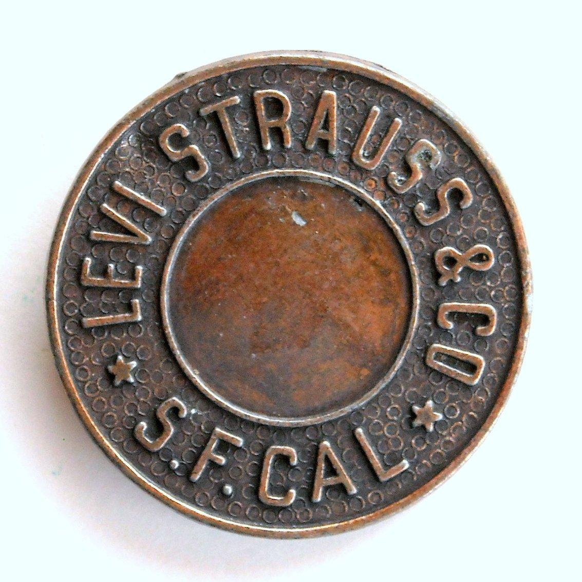Levi Strauss Bronze Color Round Belt Buckle