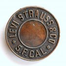 Levi Strauss Bronze Color Round Belt Buckle