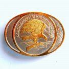 North American Hunting Club Gold Silver Color Belt Buckle