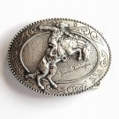 Western Broncho Buster Frederic Remington Art Museum Belt Buckle
