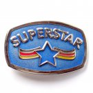 Superstar Blue Color Metal Alloy Belt Buckle