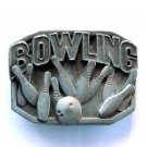 Bowling Masterpiece Pewter Belt Buckle