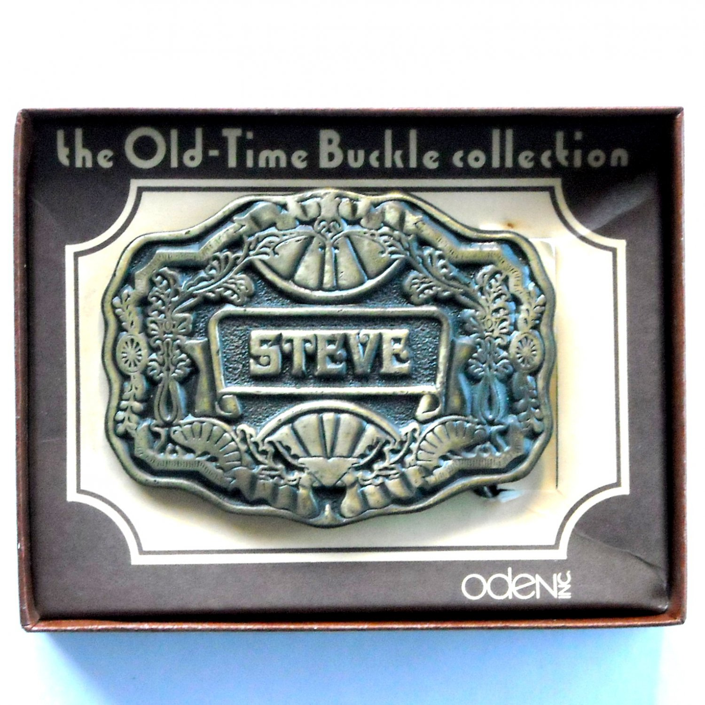 Steve Vintage Old Time Collection Oden Brass Belt Buckle