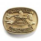 Train To Win Combat Maneuver Award Design Brass Belt Buckle