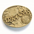 Great Seal Of The State Arkansas Award Design Solid Brass Belt Buckle