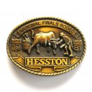 NFR Hesston Seventh Edition National Finals Rodeo 1981 American belt buckle