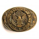 Tony Lama The Great Seal United States Of America Brass Belt Buckle