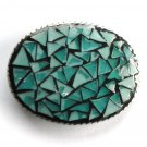 Artisan Handmade One Of A Kind Turquoise Mosaic Belt Buckle