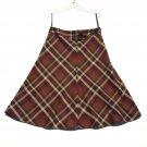 Jones Wear Studio Misses Diagonal Plaid Skirt Size 10
