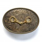 Oval Sterling Snaffle Bit Bills Custom Vintage belt buckle