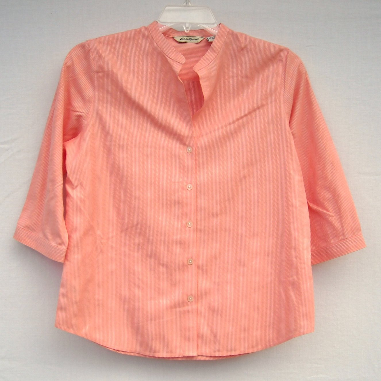 Eddie Bauer Misses Striped Cotton Blouse Shirt Size M