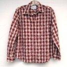 Columbia Sportswear Misses Womens Striped Cotton Blouse Shirt Size M