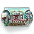 Modern Farmer Pioneers Indian Chief C&J Pewter Belt Buckle