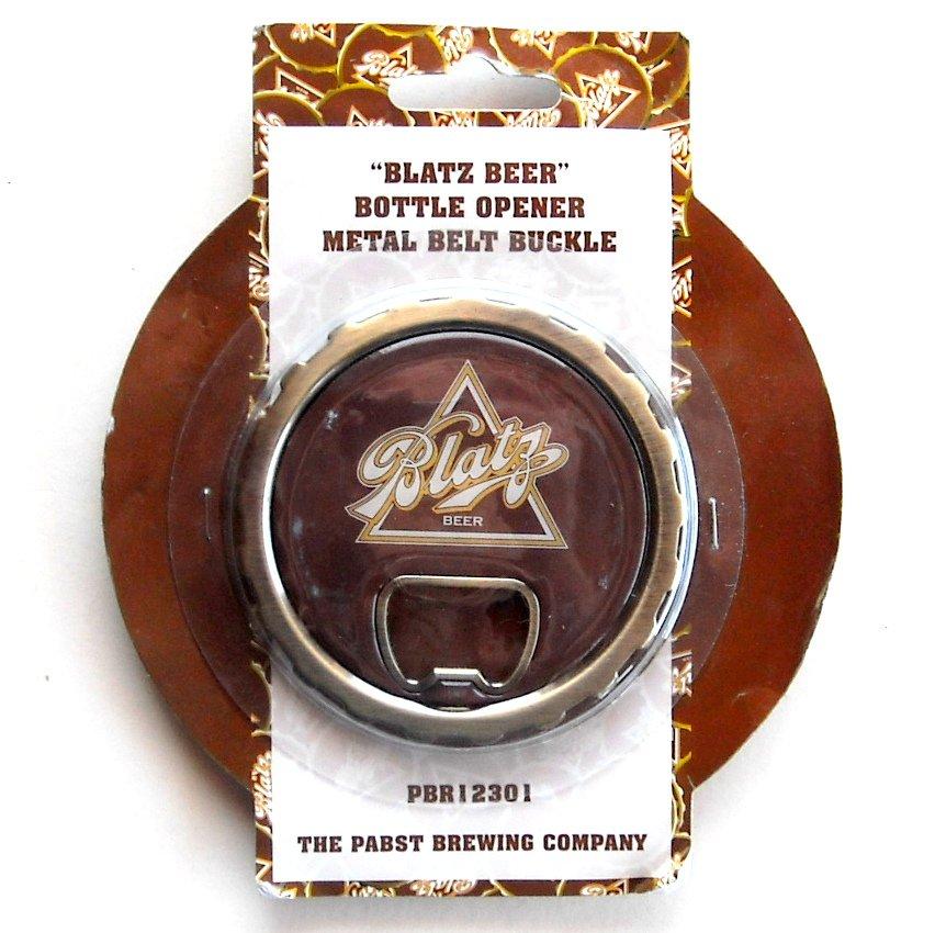 Blatz Beer Pabst Bottle Opener Metal 3e Belt Buckle