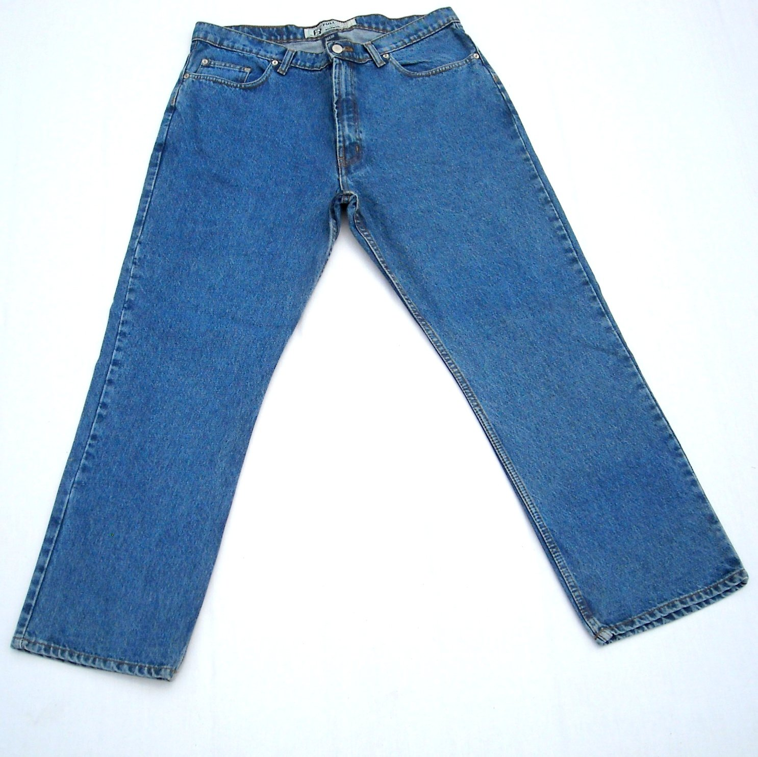 Full Blue Real Quality Work Jeans Used Size 38 X 30