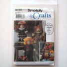 """Simplicity Sewing Pattern 8763 Crafts 12"""" Felt Doll and Clothes"""