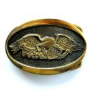 Vintage United We Stand Heritage Mint A 5898 Solid Brass belt buckle