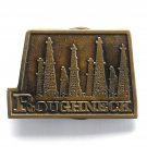 Roughneck Oilfield Bergamot Brass Color Belt Buckle