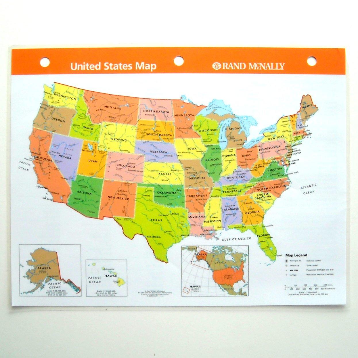United States Reference Map Laminated Rand McNally