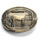 Appaloosa Equine Horse Breeder Tony Lama Solid Brass Belt Buckle