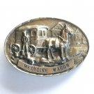 Tony Lama Medicine Wagon First Edition Brass Belt Buckle
